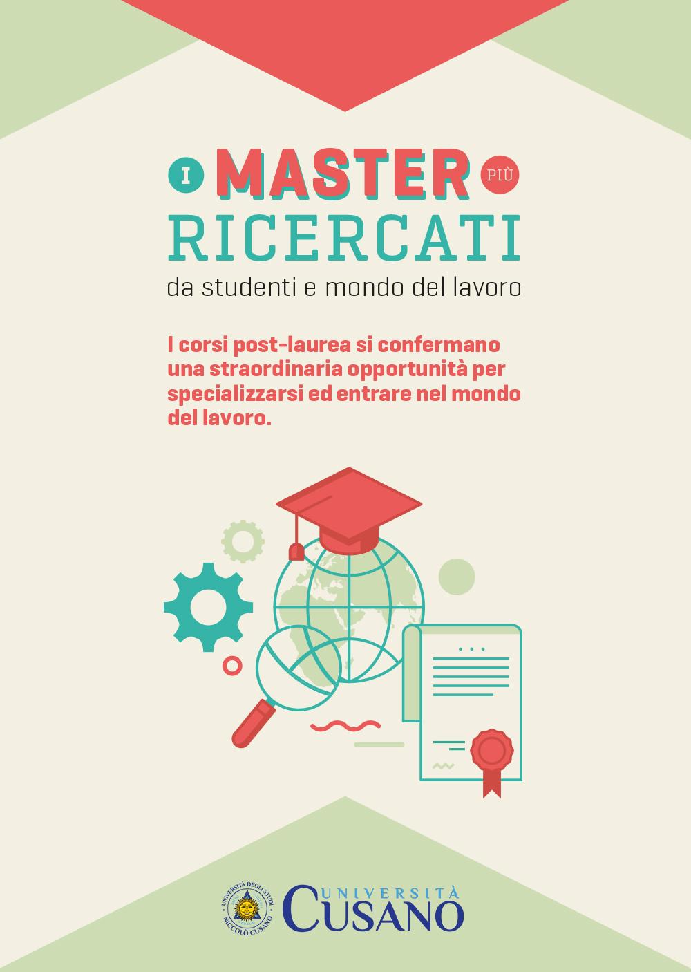Infografica I master più ricercati da studenti e mondo del lavoro