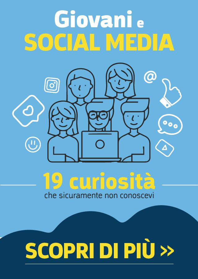 infografica social network e giovani