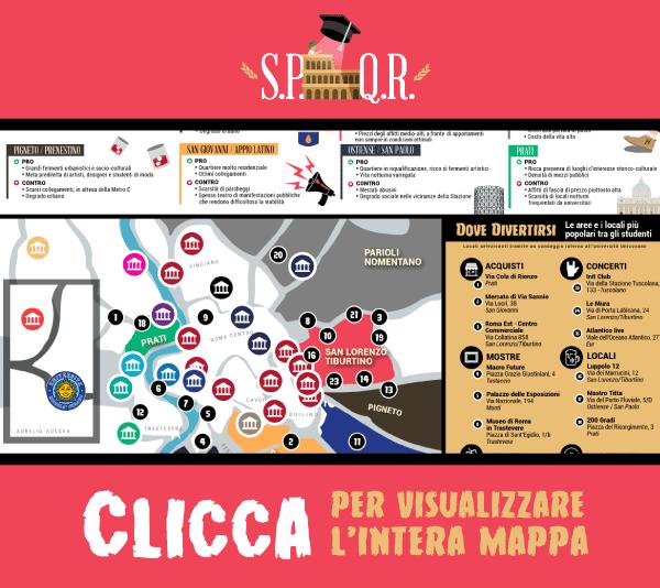 Ecco la mappa per gli Studenti universitari della Capitale.