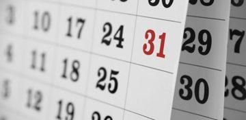 Calendario delle lezioni in presenza