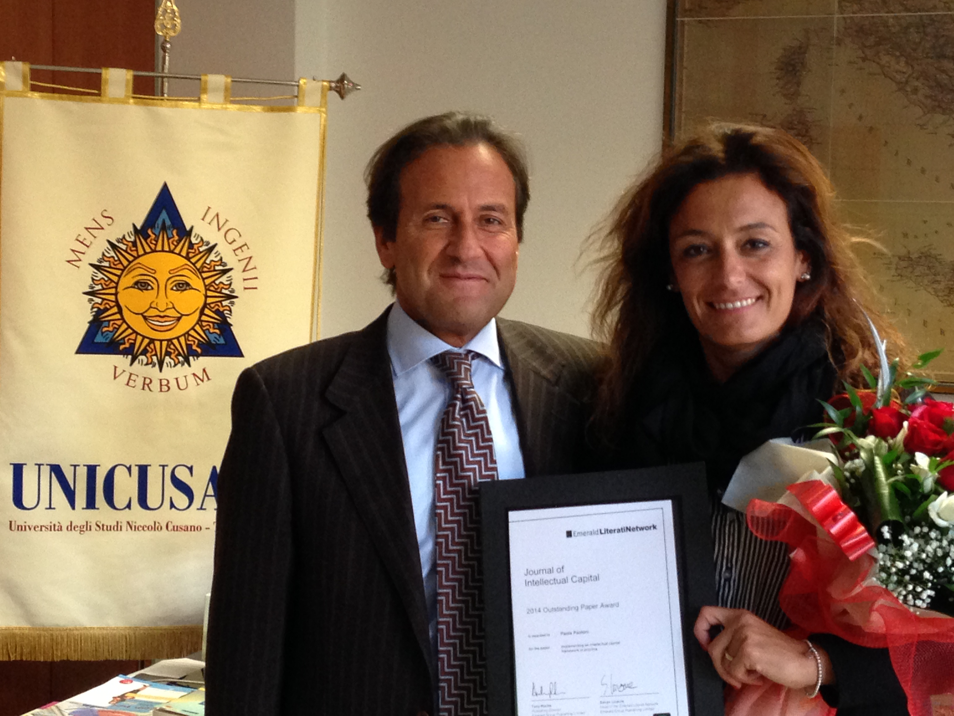 Professoressa Paoloni e il Rettore Fabio Fortuna