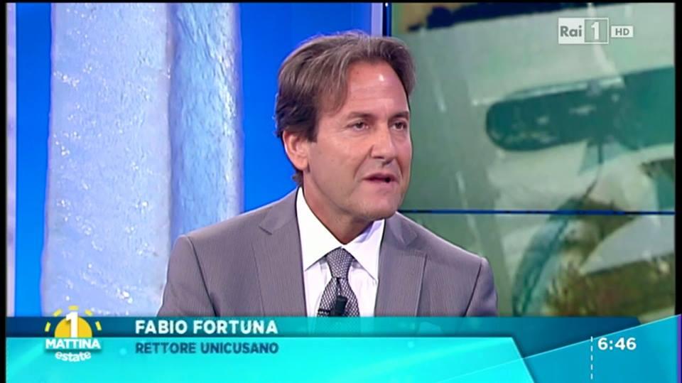 L'intervento di Fabio Fortuna, Rettore della Cusano, nel corso di Unomattina Estate