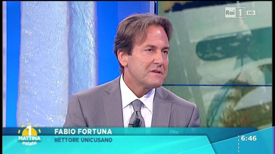 Fabio Fortuna, Rettore dell'Università Niccolò Cusano, il 23 settembre ospite di Rai Uno Mattina