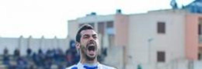 Giuseppe Meloni, centravanti dell'Unicusano Fondi Calcio