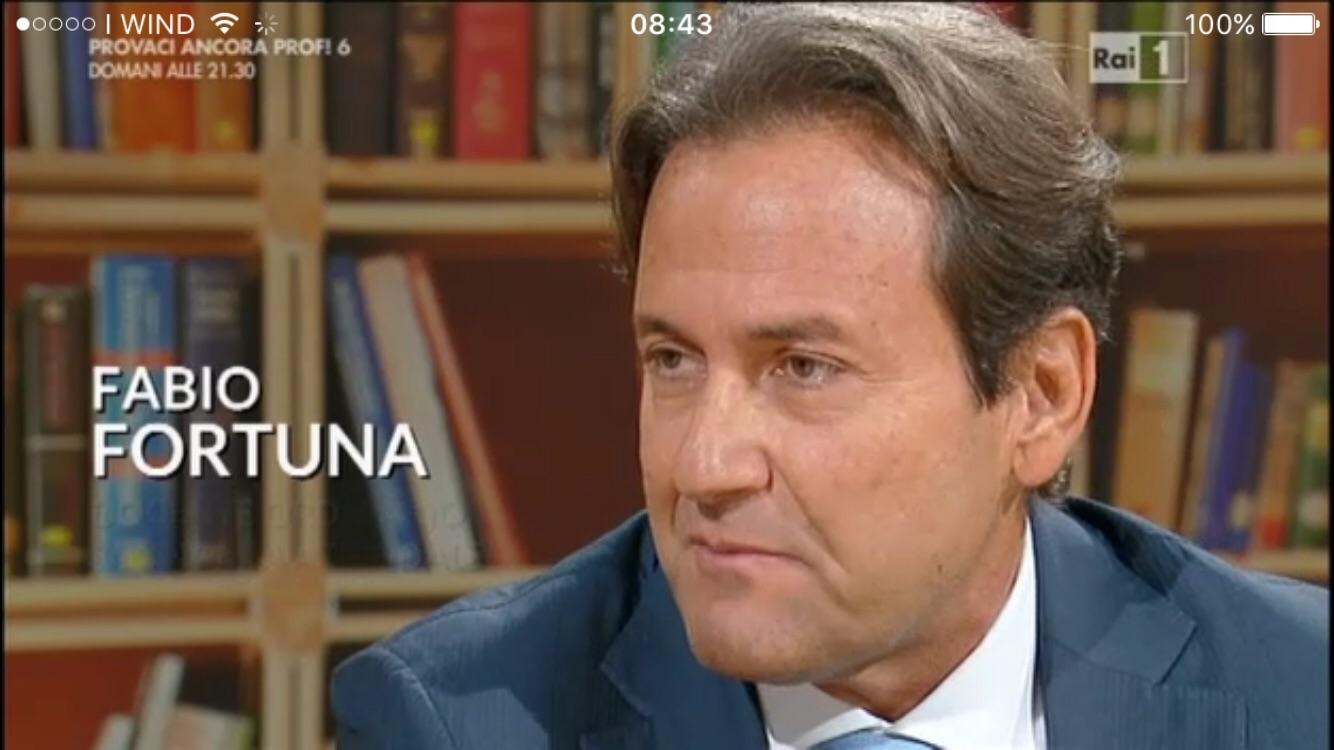 Prof Fabio Fortuna, Magnifico Rettore dell'Unicusano, ospite di Unomattina in Famiglia