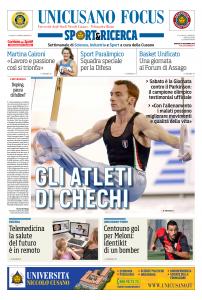Martedì 24 novembre, la prima pagina del numero di Unicusano Focus Sport&Ricerca