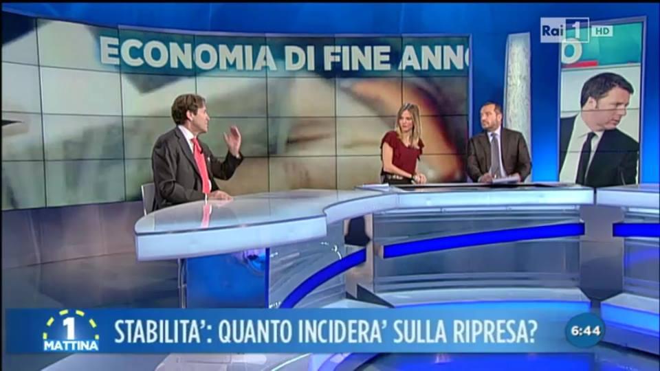 4 gennaio 2016. il magnifico rettore Fabio Fortuna a Unomattina