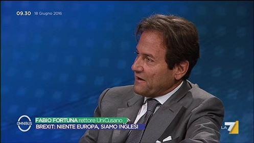 Fabio Fortuna ospite di Omnibus il 18 giugno