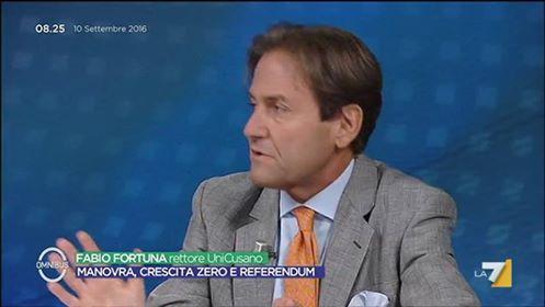 Fabio Fortuna Omnibus La7 10 settembre