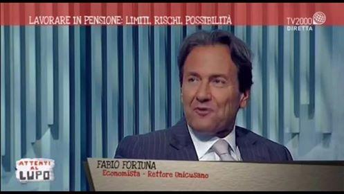 Fabio Fortuna Magnifico Rettore della Cusano ad Attenti al Lupo su Tv2000