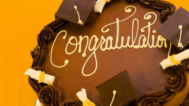 torta per laurea in economia