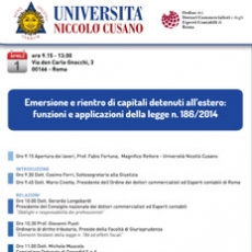 Emersione e rientro di capitali detenuti all'estero