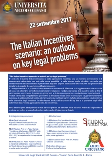 The Italian Incentives scenario: an outlook on key legal problems