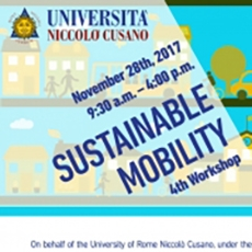 4th Workshop on the Sustainable mobility