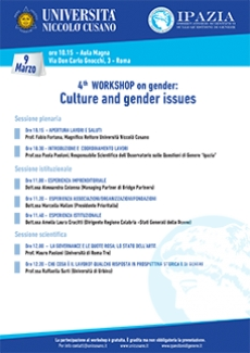 4° WORKSHOP on gender: Culture and gender issues