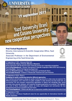 Yazd University (Iran) and Cusano University: new cooperation perspectives